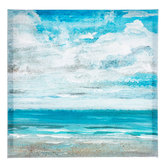 Sandy Beach Painted Canvas Wall Decor