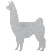Llama Galvanized Metal Wall Decor