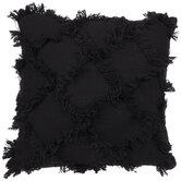 Black Diamond Fringe Pillow