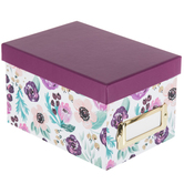 Purple Floral Storage Box