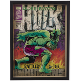 Hulk Comic Cover Framed Wall Decor