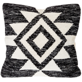 Black Wool Kilim Pillow Cover