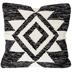 Black Wool Kilim Pillow Cover