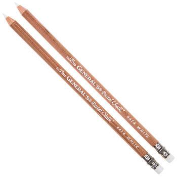 General's White Pastel Chalk Pencils - 2 Piece Set