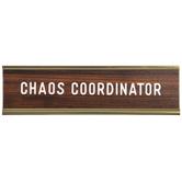 Chaos Coordinator Name Plate