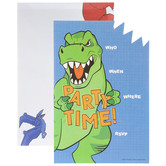 Dinosaur Party Time Invitations
