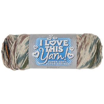 Green Camo Stripes Print I Love This Yarn