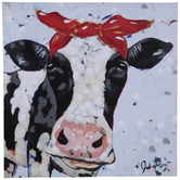 Bessie The Cow Canvas Wall Decor