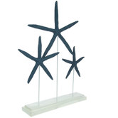 Blue Starfish Trio With White Base