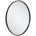 Black Metal Round Wall Mirror - Large