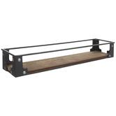 Industrial Rectangle Wood Shelf