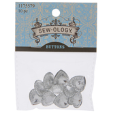 Heart Rhinestone Shank Buttons