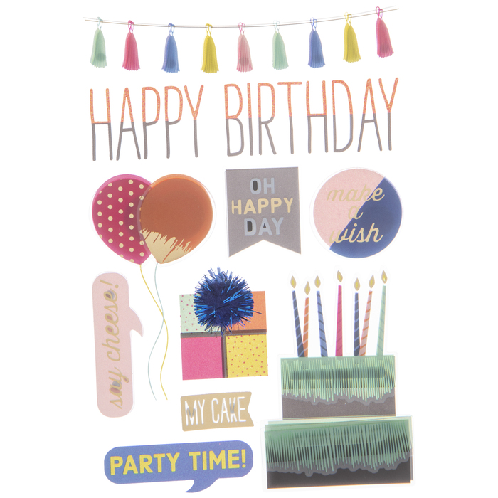 Happy Birthday 3d Stickers Hobby Lobby 1339258