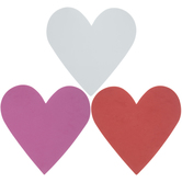 Pink, White & Red Foam Heart Shapes