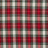 Red & White Plaid Flannel Fabric