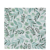 Green Watercolor Leaves Napkins