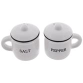 White Mugs Salt & Pepper Shakers