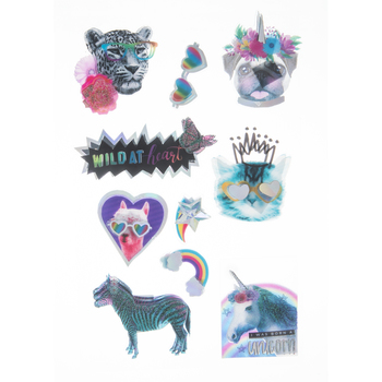 Wild At Heart Laminated 3D Stickers