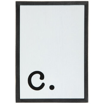 Lowercase Letter Wood Wall Decor - C