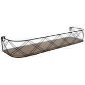 Crisscross Wood Wall Shelf