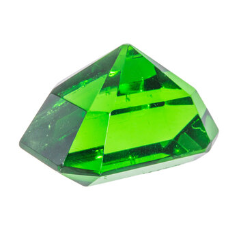 Green Faceted Paperweight