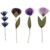 Purple Pansy Embellishments