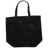 Black Canvas Tote Bag With Pockets - Large