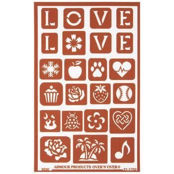 Love Glass Etching Stencil