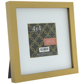 "Gold Wood Frame With Mat - 4"" x 4"""