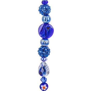 Cobalt Mixed Media Glass Bead Strand