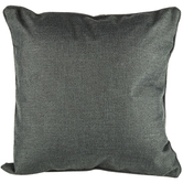 Dark Gray Piped Edge Pillow Cover