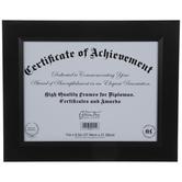 """Black Beveled Wood Wall Frame - 8 1/2"""" x 11"""""""