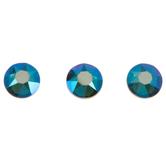 Blue Zircon Shimmer Swarovski Xirius Flat Back Hotfix Crystals - 20ss