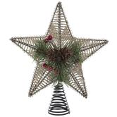 Jute & Pinecone Star Tree Topper