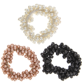 White, Black & Rose Pearl Hair Ties