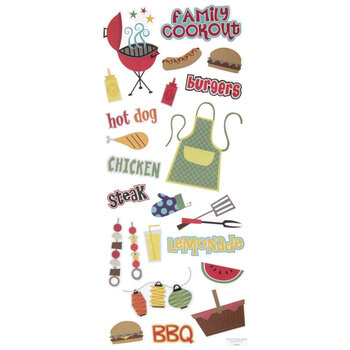 Family Cookout Stickers