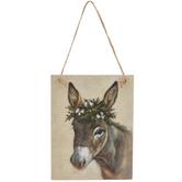 Christmas Donkey Ornament