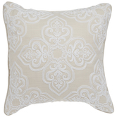 Ivory & White Medallion Pillow