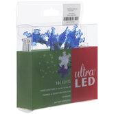 Blue & White Snowflake LED Lights
