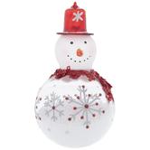 Snow Filled Snowman Ornament