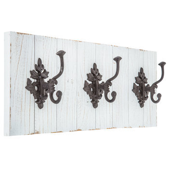 Plank Wood Wall Decor With Hooks