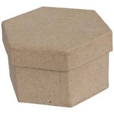 Hexagon Paper Mache Boxes