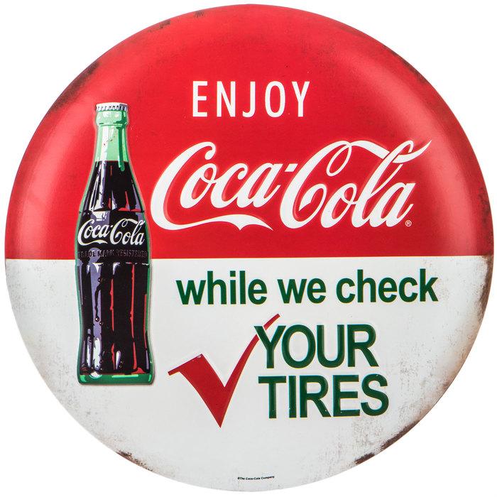 Coke Metal Wall Sign