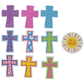 Cross Foam Stickers