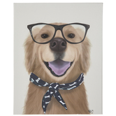 Labrador With Glasses Canvas Wall Decor