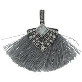 Gray Fan Tassel Pendant
