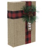 Burlap Wood Gift Box