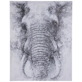 Textured Elephant Canvas Wall Decor