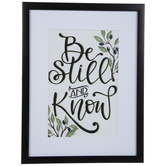 Be Still Framed Wood Wall Decor