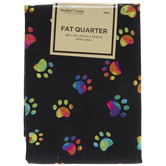 Multi-Color Paw Prints Fat Quarter